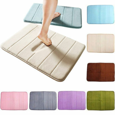 Memory Foam Soft Bathroom Bedroom Bath Mat Floor Rug Carpet Non Slip Surface New