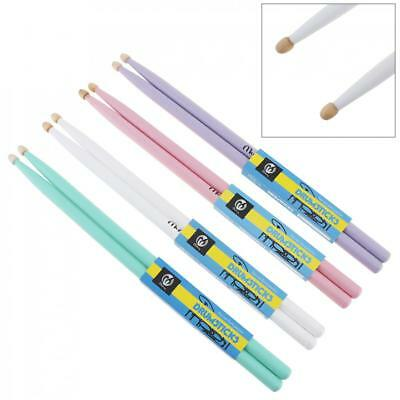1pair Colorful Maple Wood Drum Sticks 5A Music Band Drumsticks 4 Colors Optional