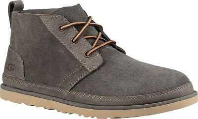 9616214c872 UGG NEUMEL UNLINED Leather Chukka Men's Boots - Charcoal Unlined Leather -  $125