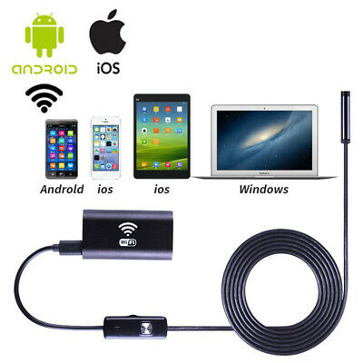 1200P WIFI 8mm IP67  Endoscope Borescope Snake Inspection Scope samsung Iphone