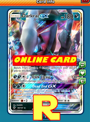 Darkrai GX - Regular - for Pokemon TCG Online (DIGITAL ptcgo in Game Card)