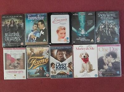 10x FAMILY DVD JOB LOT One Day,Emma,Marley & Me,Fame,Snow White & The Huntsman++