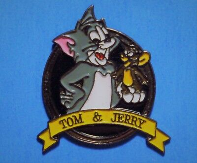 Tom And Jerry - Cat & Mouse Cartoon - Vintage 1993 Turner Ent. Lapel & Hat Pin