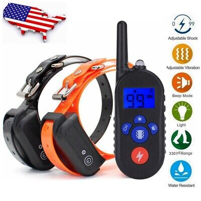 Wireless Electric Dog Fence Pet Training Collar Transmitter Containment System