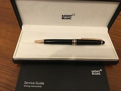 Montblanc Meisterstuck Classique Rose Red Gold Coated Penna A Sfera Nuovo 112679