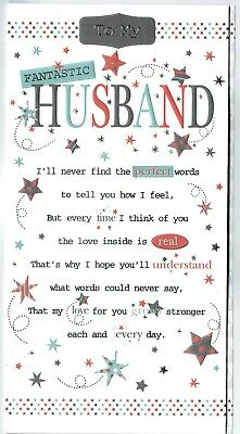 Husband Birthday Card With Sentiment Verse And Pop Up
