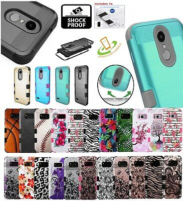 ZTE Impact HYBRID Tough Armor Rubber Silicone Rugged Defender Case Phone Cover