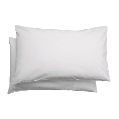 IKEA LEN 2 Pack Pillowcase for cot, white  35x55 cm Infant kids Nursery baby