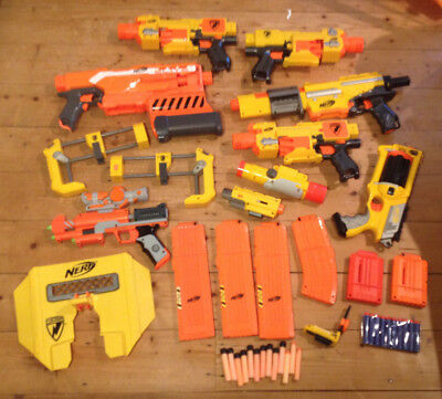 NERF Huge Big Bundle Joblot | x7 Gun Accessories Darts Kids N-Strike | Toy