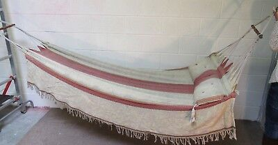 Turn of the century, Victorian, Bedouin hammock with sewn in pillow