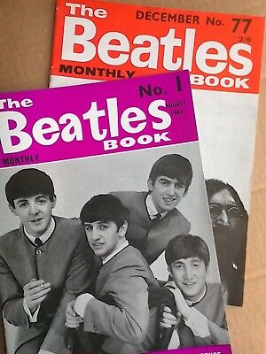 BEATLES BOOK MONTHLY No 1 August 1963 and No 77 December 1969 (Second Prints)