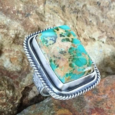 Gorgeous 925 Silver Ring Turquoise  Wedding Bridal Women Jewelry Size 6-10