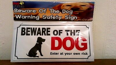 "Dog Warning Safety Sign ""BEWARE OF THE DOG ENTER AT YOUR OWN YOUR RISK"""