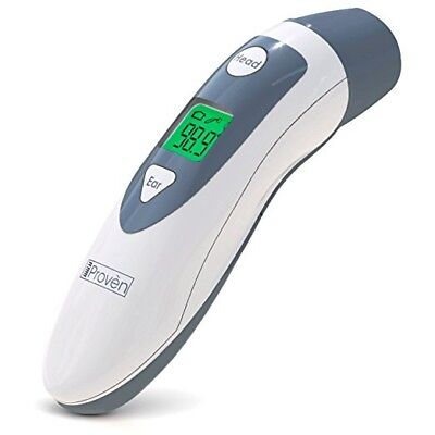 Baby Forehead Thermometer with Ear Function- iProven DMT489 Gray Cap