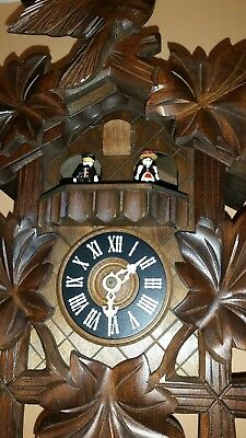 BLACK FOREST  MUSICAL CUCKOO CLOCK / Fully  Servised/NIGHT SHUT OFF --- GWO