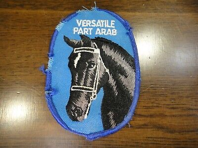 Vintage Versatile Part Arab Patch Black ( Beauty ) type Arabian Horse