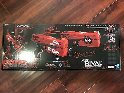 Nerf Rival Deadpool Kronos XVIII-500 dual pack - Brand New Sealed Box