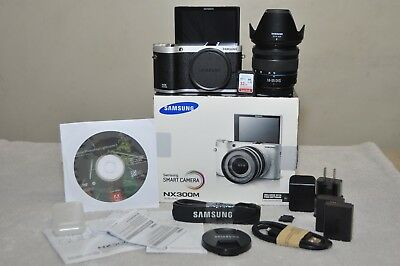 Samsung NX300M 20.3 MP( Black) w/18-55mm III OIS Lens + Extras_ Excellent Cond