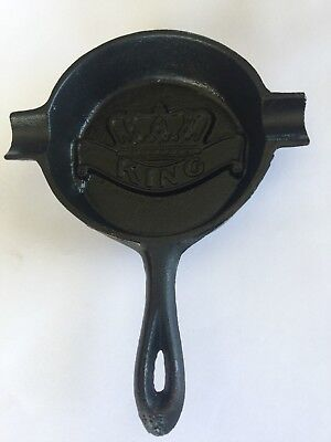 Antique Cast Iron Skillet Ashtray King Stove & Range Sheffield, AL w/ Heat Ring