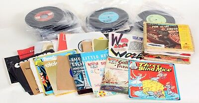 """Large Collection Over 100 45 7"""" Vinyl Records"""