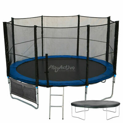 8FT Trampoline With FREE Safety Net Enclosure, Ladder, Rain Cover, + Shoe Bag