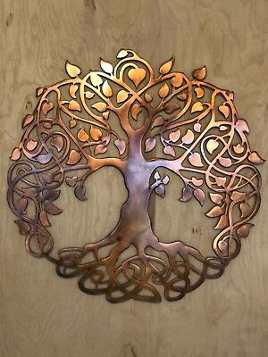 TREE OF LIFE Copper Patina Finish Metal Wall Art Hanging - $40.50 ...