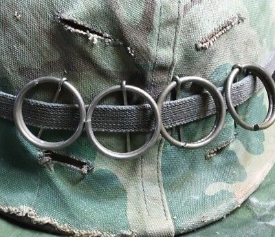 4 M2 M62 M67 Smoke Pull Rings for US Army USMC Vietnam War Helmet/ BOONIE HAT