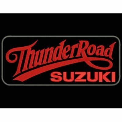 Iron Patch bestickt Patch zona ricamata parche bordado THUNDER ROAD SUZUKI