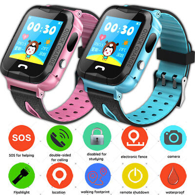 Anti-lost Kids Smart Watch Safe Tracker SOS Call Wrist IP67 For Android IOS