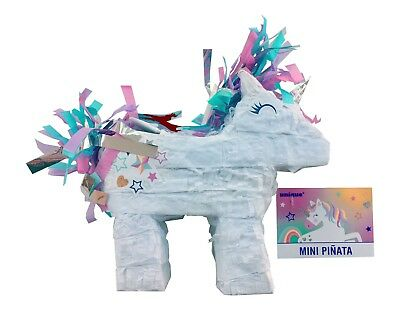 Mini Magical Unicorn Pinata Party Supplies Decoration  Birthday Filler sweets