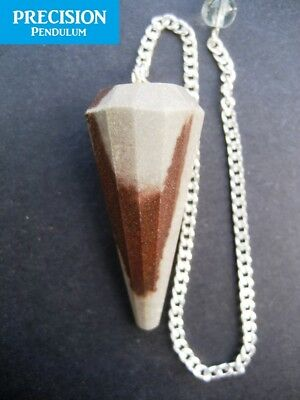 Solid Narmada River Stone 12-Faceted Precision Pendulum Healing Crystal Gemstone