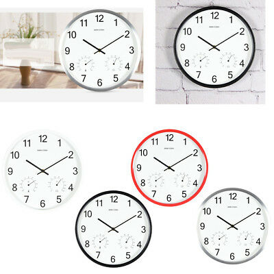 Modern Minimalist Round 12-inch Non Ticking Quiet Wall Clock for Home Office