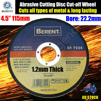 "4.5"" 115MM Cutting Disc Wheel Thin Angle Grinder Cut Off Metal Steel Flap BT7224"