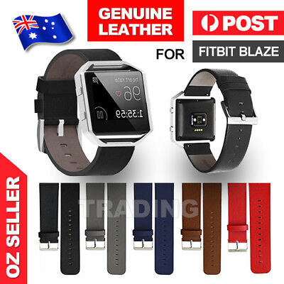 Genuine Replacement Leather Band Wrist Strap Watchband For Fitbit Blaze Watch AU