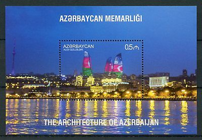Azerbaijan 2017 MNH Architecture Flame Towers Skyscrapers 1v S/S II Stamps