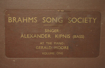 """ALEXANDER KIPNIS -BASS- & MOORE -PIANO- """"Brahms Song Society"""" Volume One   A249"""