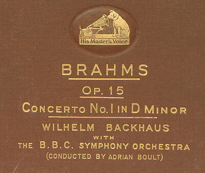 BACKHAUS -PIANO- & BOULT cond. Brahms: Concerto No. 1 in D-moll Op. 15  78' A243