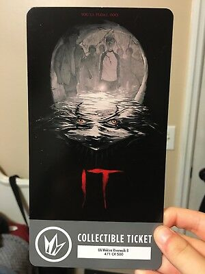 IT movie collectors ticket out of 500