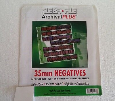 CLEAR FILE Archival Plus 35mm Negative -  20 units