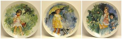 Vintage Lot of 3 LIMOGES-TURGOT France Paul Durand Collector Plates