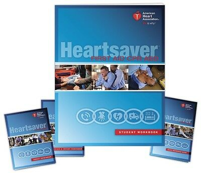 AHA Heartsaver First Aid CPR AED Student Workbook 2015 - *FAST SHIP* BRAND NEW