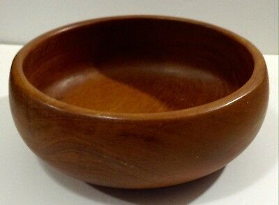 Vintage 1970s Mid Century Modern Design Teak Wood Salad bowl Goodwood Thailand