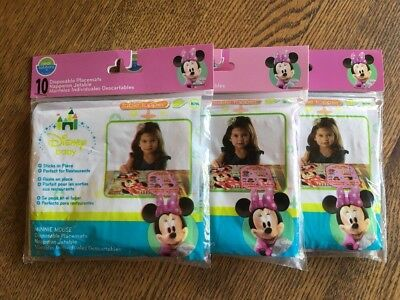 3 Neat Solutions Disney Minnie Mouse Disposable Table Topper Stick On Placemats
