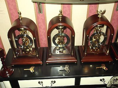 Hermle Showroom Condition Stunning Vintage Flamb Passing Strike  Skeleton  Clock