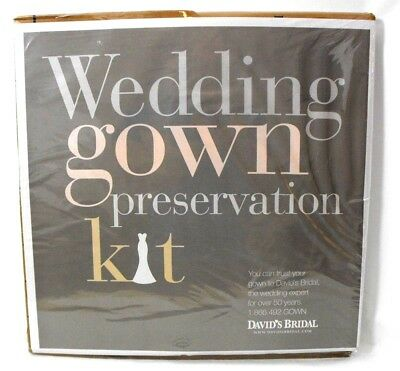 NEW David's Bridal Wedding Gown Preservation Kit Storage. New Sealed Retail $189