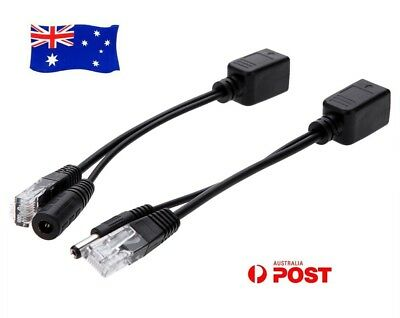Power Over Ethernet Passive PoE Adapter Injector + Splitter Kit PoE Cable OZ AU