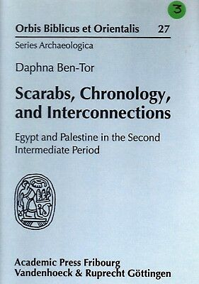 Scarabs, Chronology, and Interconnections: Egypt and Palestine
