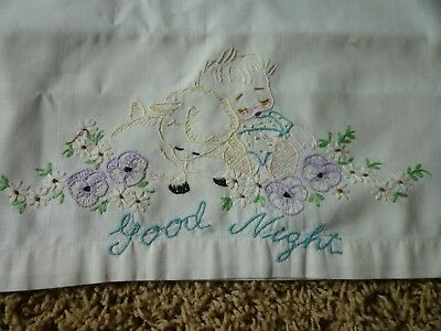 Lot Of 5  Vintage Antique Small Baby Doll Child Pillowcases
