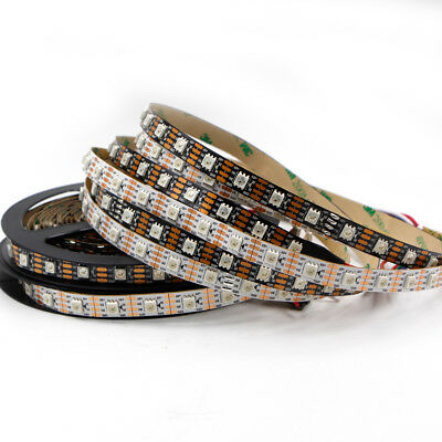 1m 5m WS2813 WS2812 LED Strip light 5050 SMD RGB Dual Data Addressable tape lamp