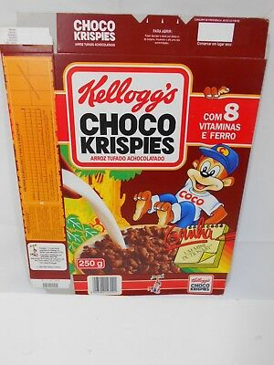 VTG 1992 Cereal Box KELLOGG'S Choco Krispies PORTUGAL 250g Collectible NOS